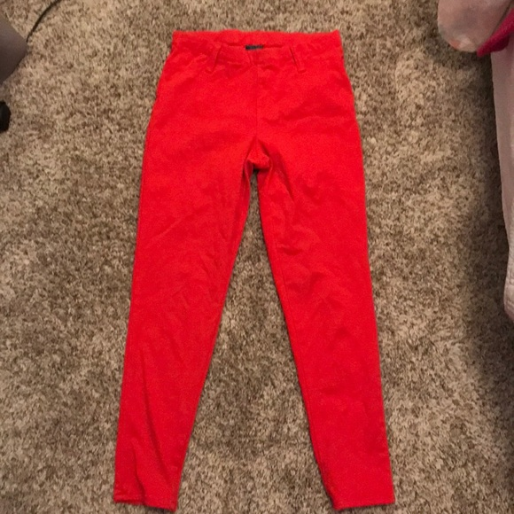 2c43cfdaf5ced9 Faded Glory Pants | Red Jeggings With Pockets | Poshmark